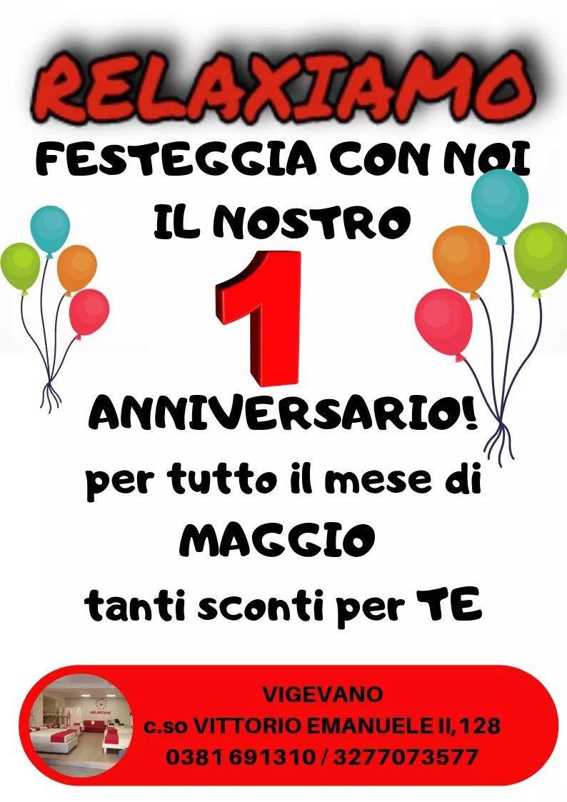 Festeggia con Noi il Nostro primo anniversario! - Relaxiamo