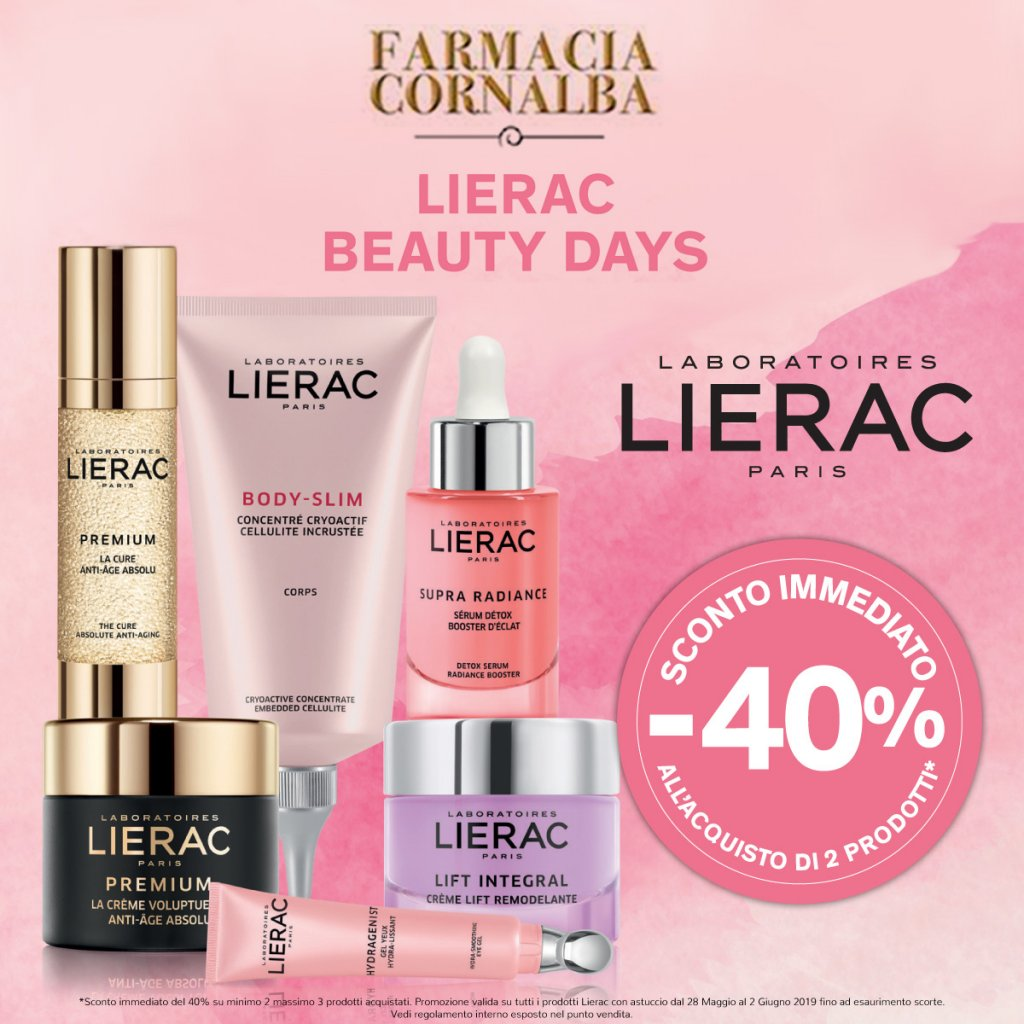 Lierac Beauty Days - Farmacia Cornalba