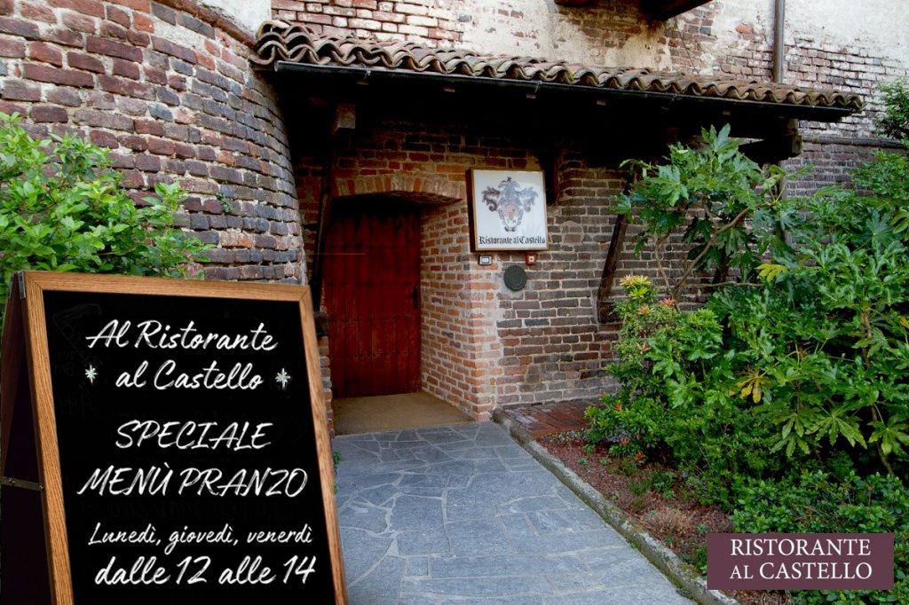 Menù Pausa pranzo al Ristorante al Castello