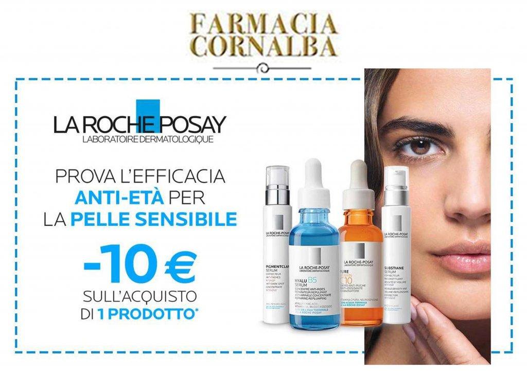 Sconto di 10€ sull'acquisto di un prodotto Le Roche-Posay - Farmacia Cornalba
