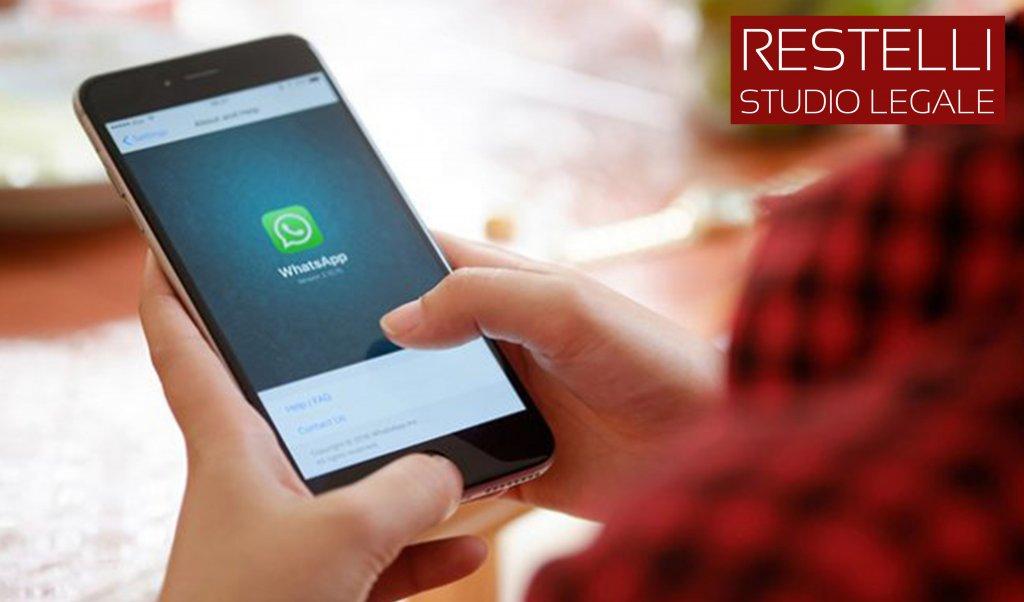 Whatsapp: i messaggi valgono come prova? - Studio legale Restelli