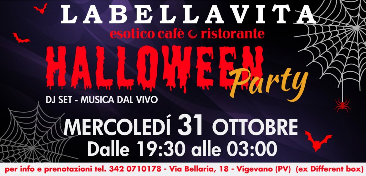 HALLOWEEN PARTY! LABELLAVITA esotico cafè 🌙 ristorante!