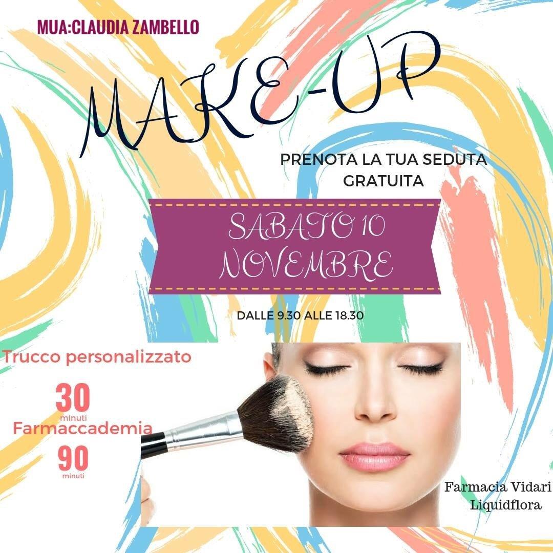 Sabato 10 novembre! Prenota la tua seduta Make-Up gratuita!