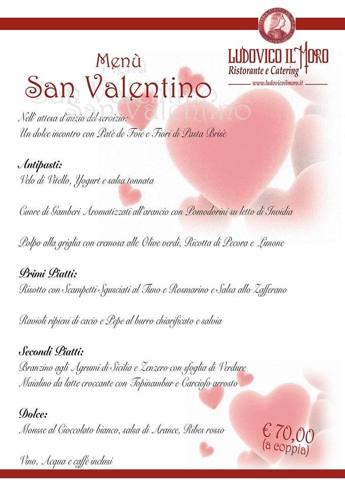 Cena di San Valentino - Ristorante Ludovico il Moro