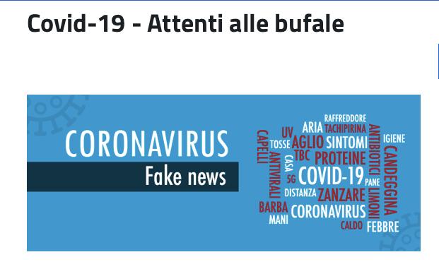 Covid-19 - Attenti alle bufale