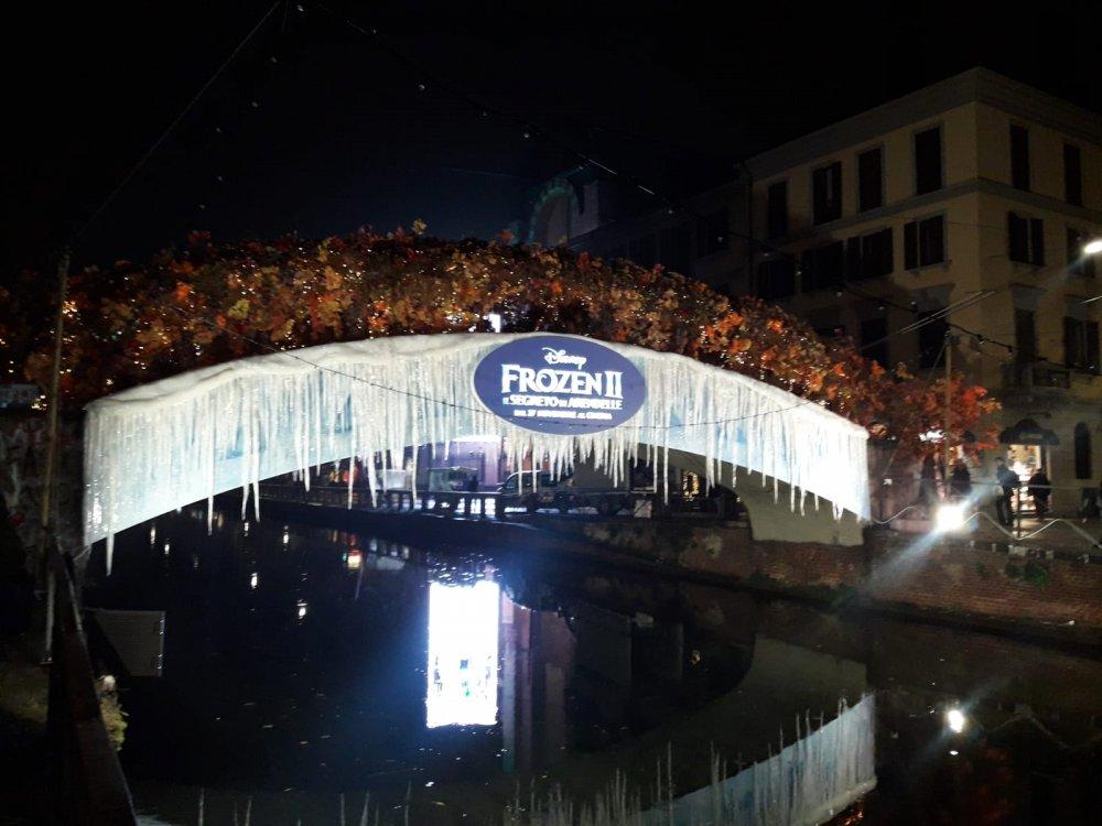 Allestimento Frozen Disney - Milano Navigli