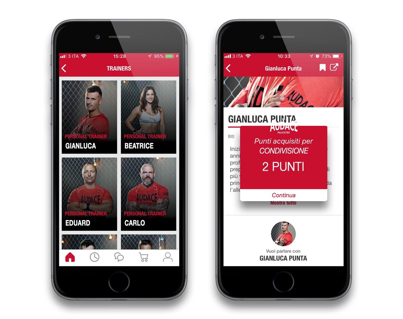 Audace App Trainer condiviso