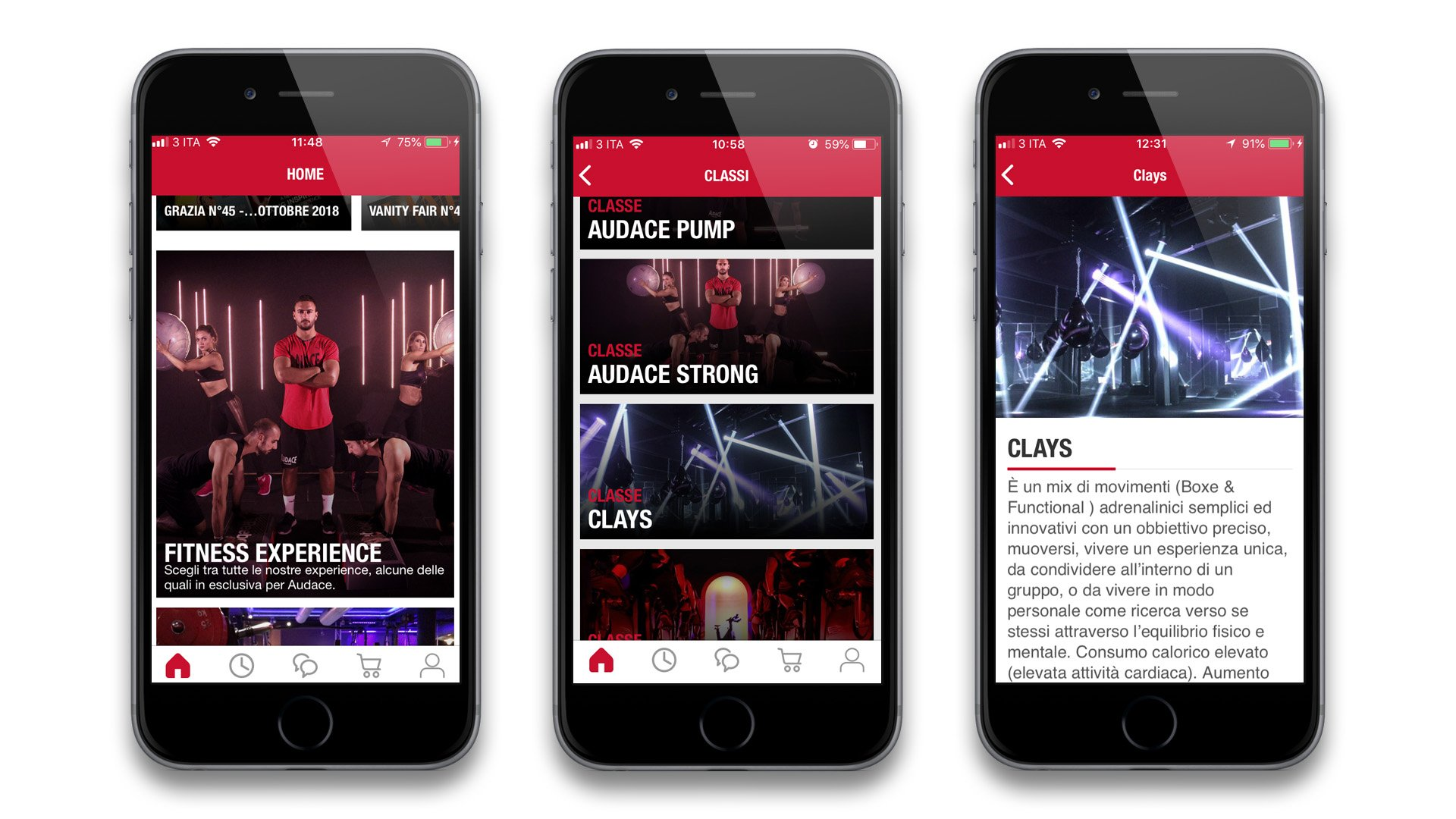 Audace App Fitness Esperience