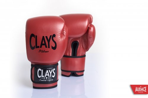 CLAYS Gloves - Metallic Red