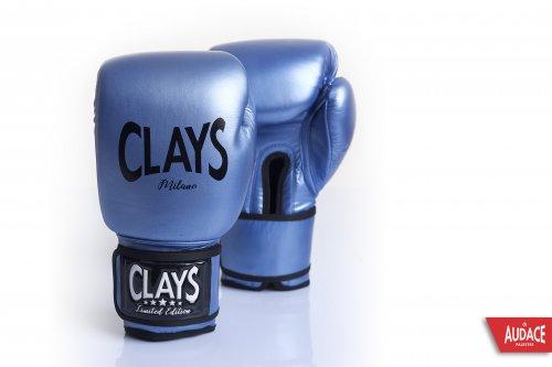 CLAYS Gloves - Metallic Blue