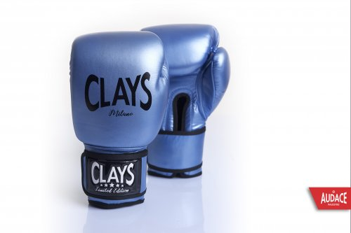 CLAYS Gloves - Metallic Blue