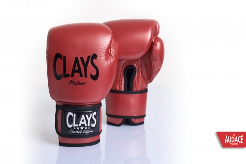 CLAYS Gloves - Metallic Red