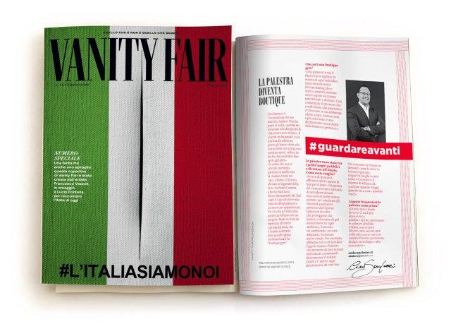 Vanity Fair Speciale Guardare Avanti Audace Palestre articolo Ciro Santucci