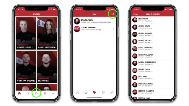 Chat Personal Trainer Audace App