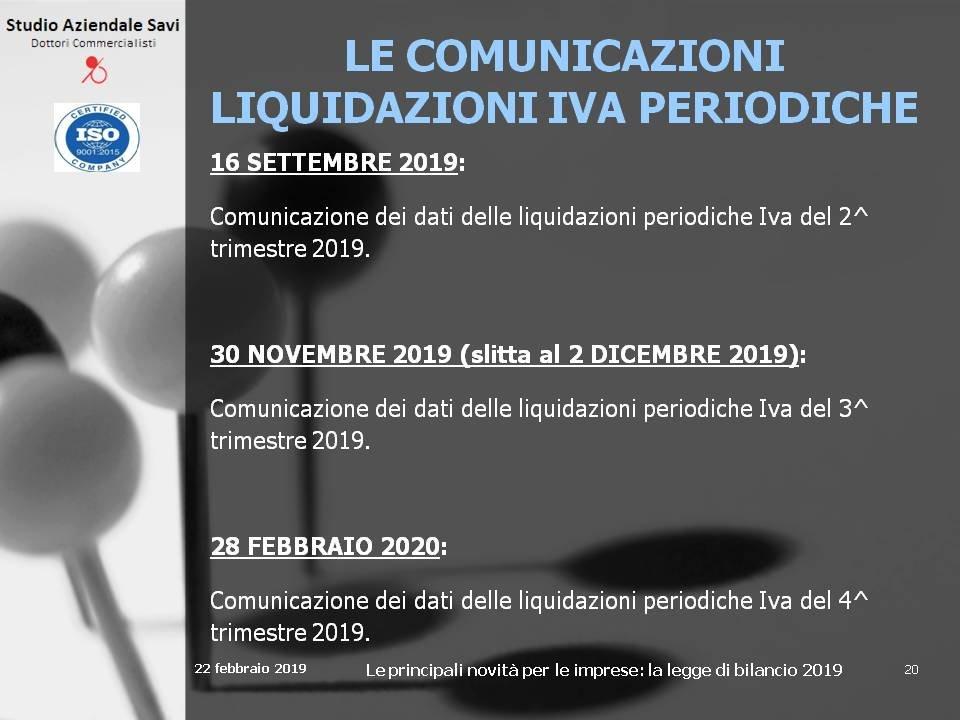 Calendario Fiscale 2020.News E Convegni Slides Nuovo Calendario Fiscale 2019