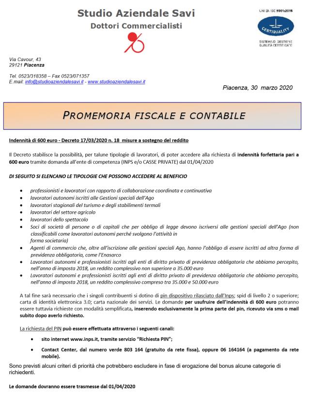 bonus 600 euro covid