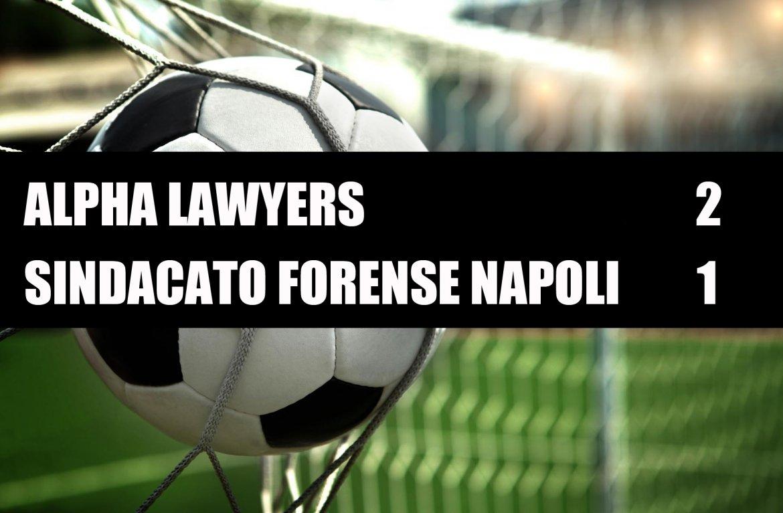Alpha Lawyers - Sindacato Forense Napoli  2-1