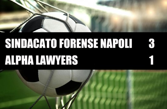 Sindacato Forense Napoli - Alpha Lawyers  3-1