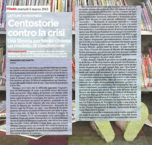 Centostorie contro la crisi